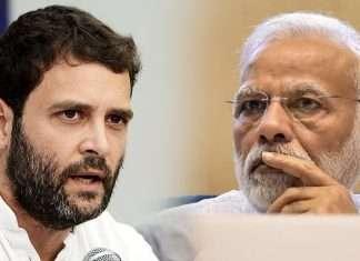 Rahul Gandi and PM Modi