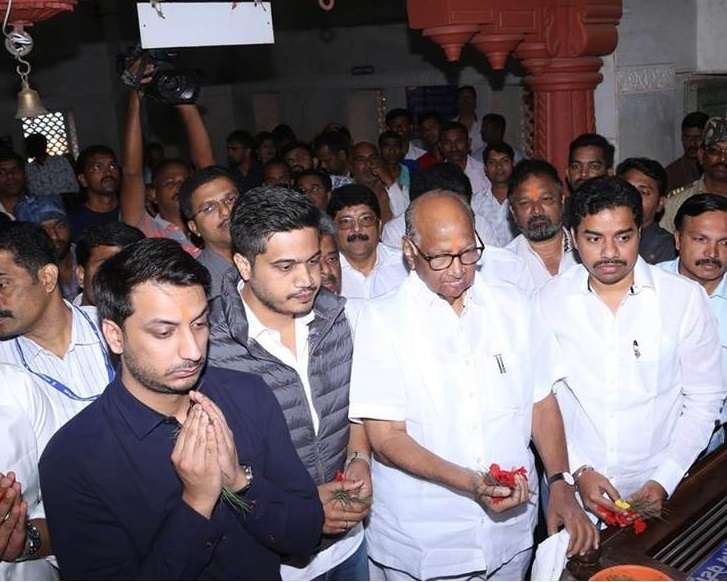 parth pawar with grandfather sharad pawar