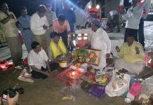 vinayak mete did bhumi pujan of shivsmarak in mumbai