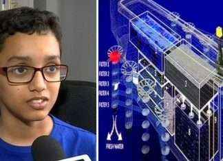 12 year old boy make design of ship for clean sea and save marine life