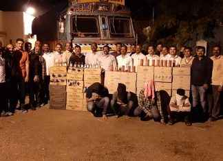 65 lakh rs branded liquor of daman seized in nashik