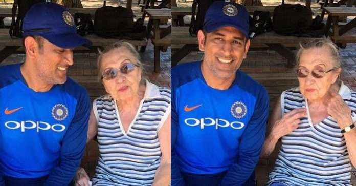 M.S. Dhoni meets his 87 years old fan