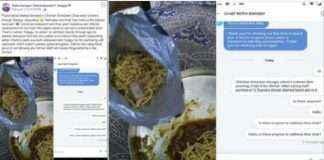 ordered Chicken noodles through swiggy