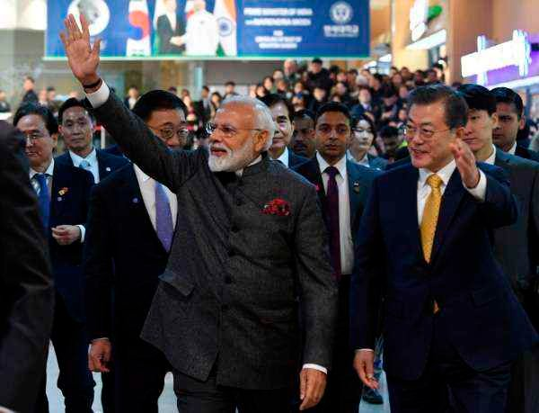Naredra Modi at korea
