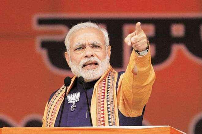 PM narendra modi slams congress in perumanallur