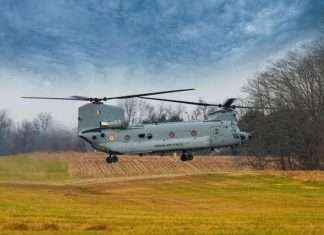 The first batch of four Chinook helicopters for the Indian Air Force arrived at the Mundra airport in Gujarat