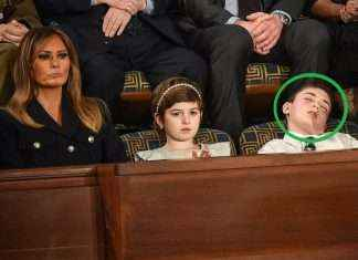 When bullied Boy with trump surname sleeps in front of Donald trump
