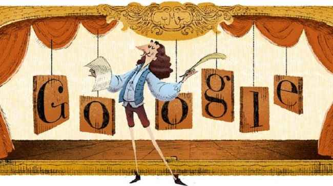 Google Celebrates Life, Works Of French Playwright Moliere With A Doodle