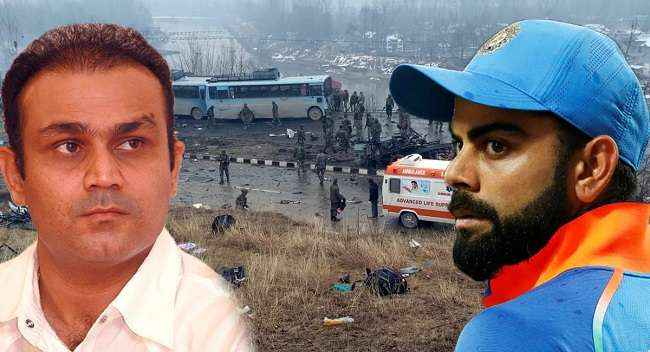 indian cricketer's reaction on Pulwama terror attack