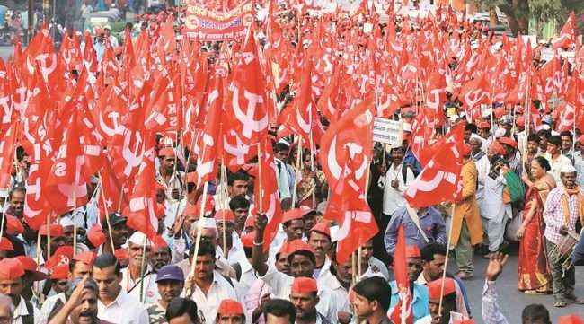 police not allow to farmer long morcha