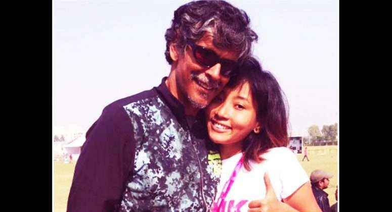 Milind Soman and Ankita Konwar's candid pictures