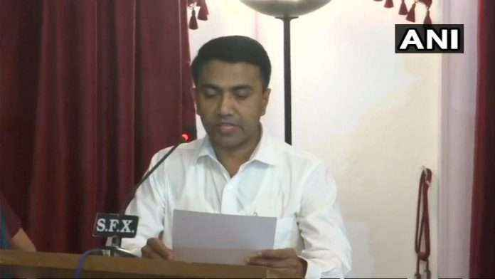 Pramod Sawant takes oath as the new Chief Minister