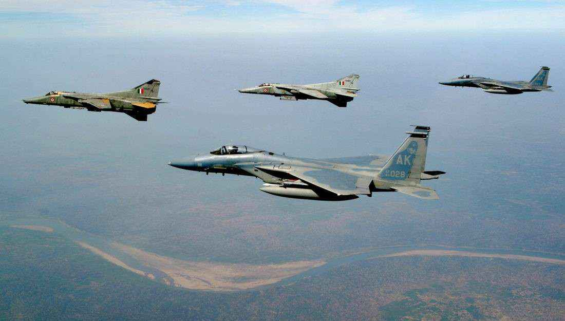 Indian Air Force carried out major readiness exercise last night over Punjab and Jammu