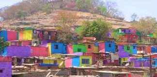 Slums in Pune being coloured under 'Misaal Mumbai' foundation