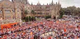 The Maratha Kranti Morcha against the BJP and shivsena
