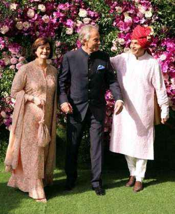 Tony Blair, Former British Prime Minister with wife with Anil Ambani
