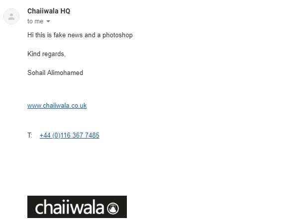 chaiiwala tea shop email
