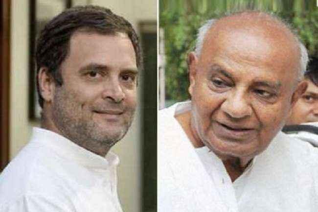 rahul gandhi and devegauda
