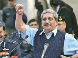 manohar parrikar defence minister