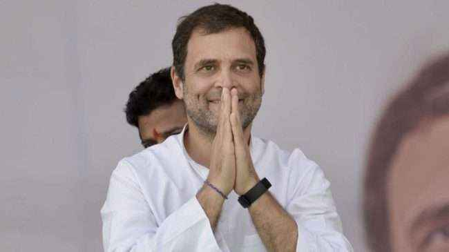 rahul filed his nomination from amethi