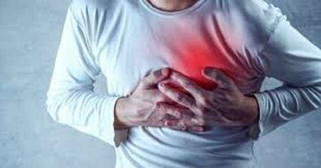 death rates increases due to heart attack
