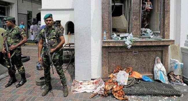 srilanka attacks : explosion in van near colombo church when officials were defusing bomb