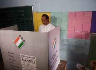 Ajit pawar cast his vote