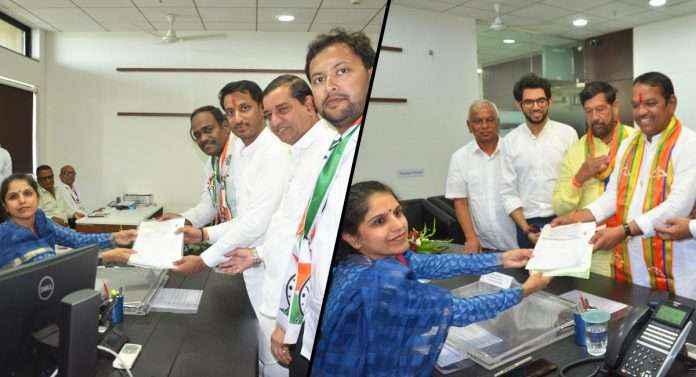 Shrirang barane and parth pawar filled nomination form
