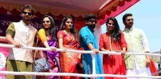 celebrities participate in rallies of Gudipadwa