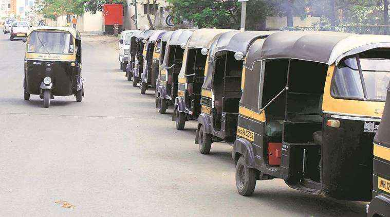 hundred of Bogus auto rickshaws are on bhiwandi