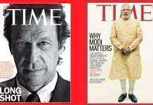 imran khan and narendra modi on time cover