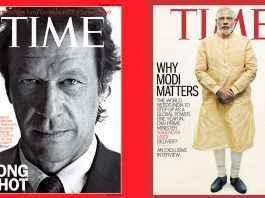imran khan and narendra modi on time cover