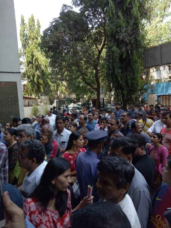students and their parents angry on thodamal sahani college management NOTA examination