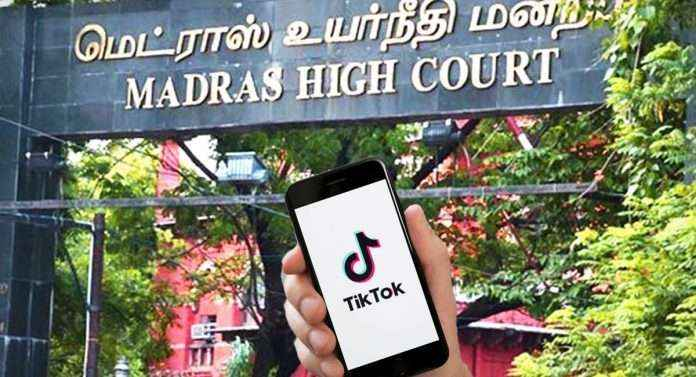 madurai bench of the madras high court lifts ban on tiktok video app