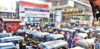 action against 100 auto rickshaw drivers in kalyan