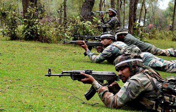Encounter started between security forces and militant in kulgam district 3 militants trapped