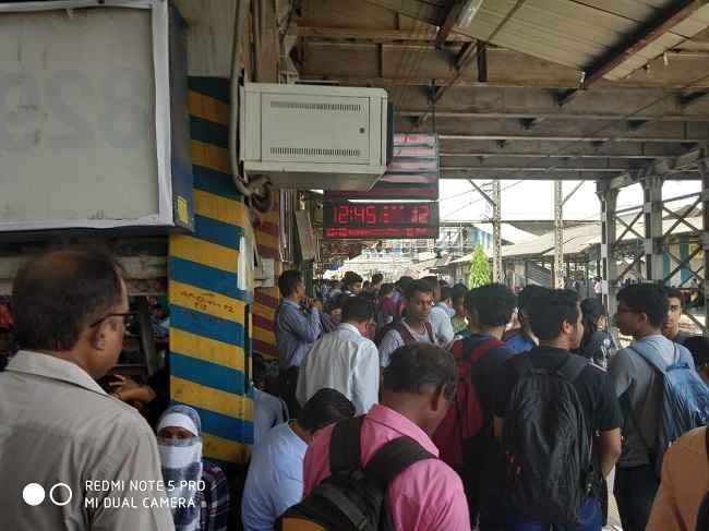 Signal network failure on the Central Railway route