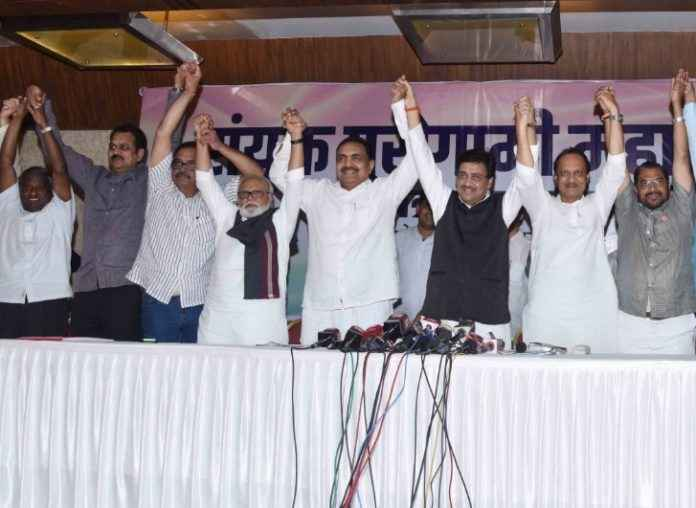 NCP Congress party joint meeting mahaaghadi
