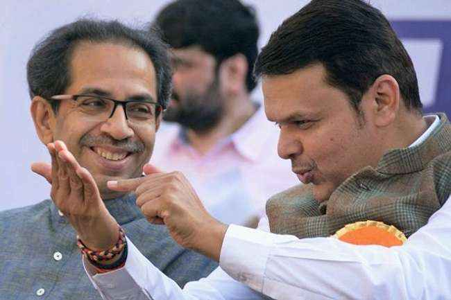 Image result for devendra fadnavis and uddhav thackeray images