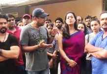 Attak on mahi gill and other actors during shooting in mira road
