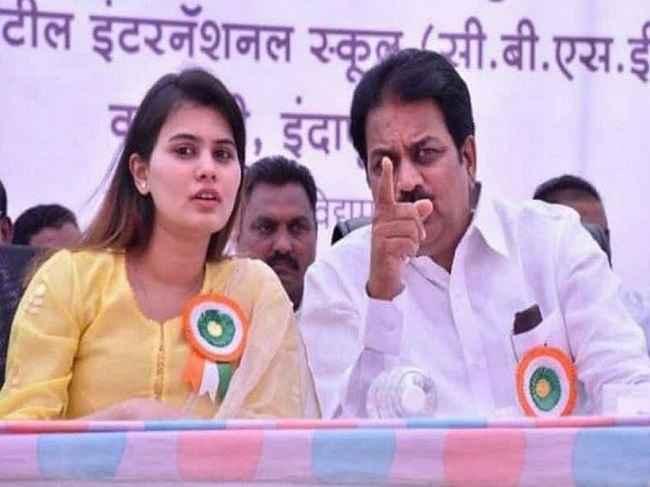 harshavardhan patil and daughter ankita patil
