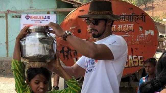 Randeep helping people in Nashik