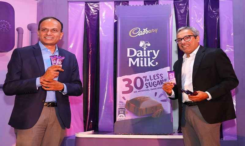 cadbury dairy milk chocolate with new version 30 percent less sugar