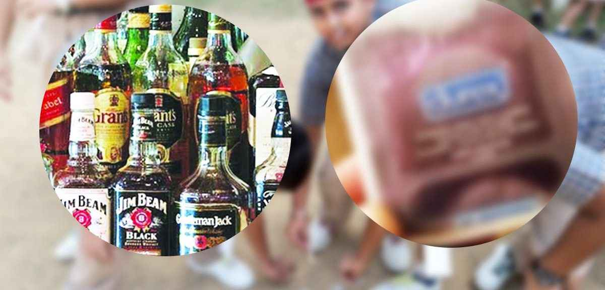 School two bags garbage were found along bottles liquor and condoms in beed