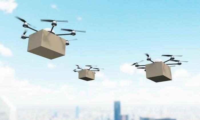 zomato drones