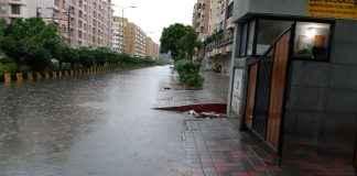 Heavy rain and curfew