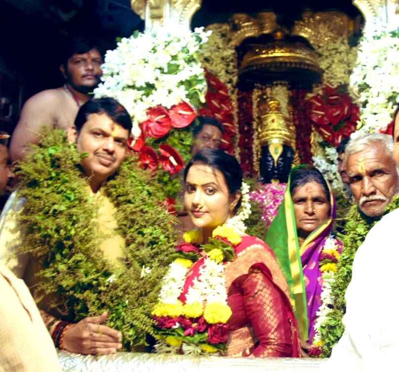 Cm devendra fadnavis performs vitthal puja at pandharpur on the occasion of ashadhi ekadashi