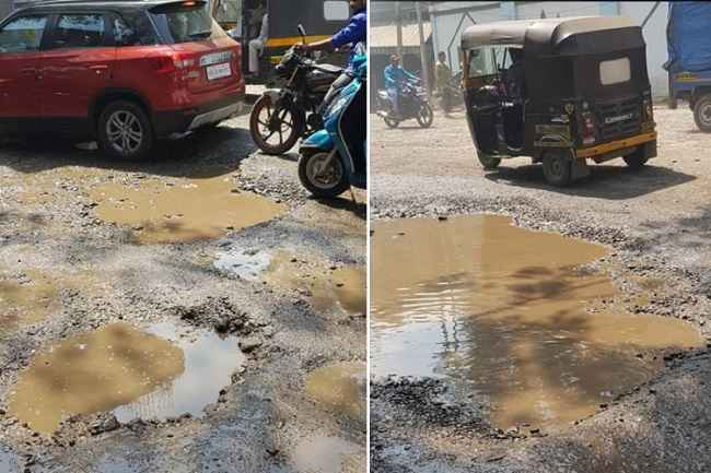 Potholes on bhiwandi-wada roads
