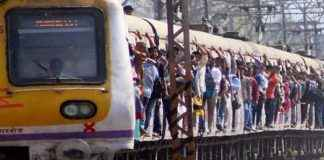 one dead and two injured after falling down of local train between mumbra and kalva railway stations