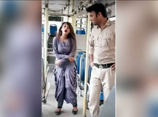 dtc bus suspend driver and conductor due to show in video of dancing girl